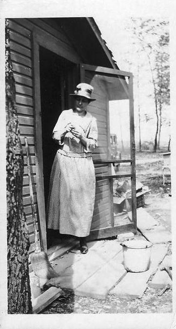 Cora DeKorn at her father Richard DeKorn's cottage on Long Lake