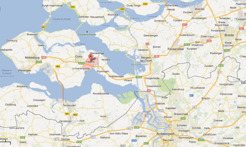 Kapelle is located at the A flag and Goes is just to the left