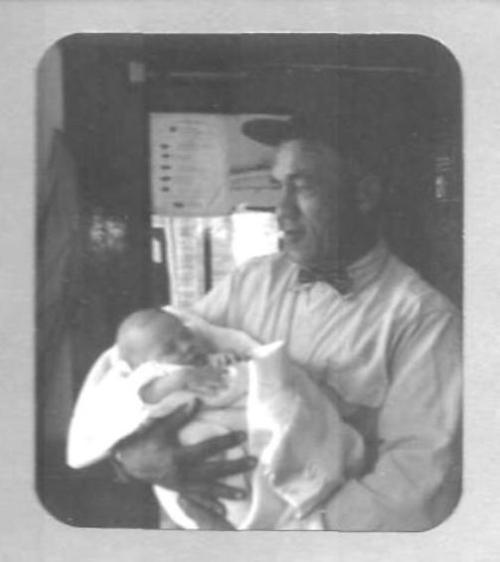 Grandpa holding me