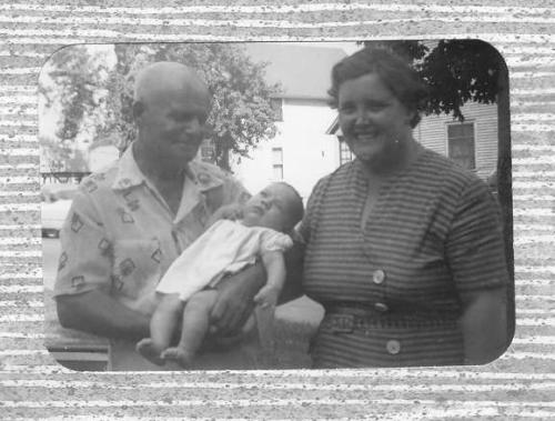 Great Grandpa, me (the first great grandchild), and Margaret