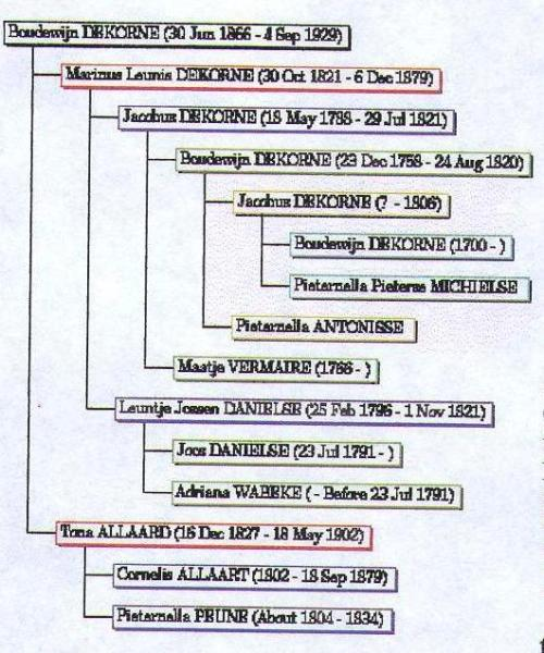 Other Dekorne family tree