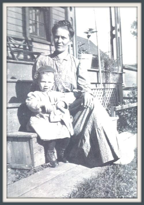 Cora Wilhelmina DeKorn Zuidweg and her son Adrian Zuidweg Kalamazoo, Michigan circa 1910
