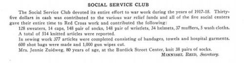 Jennie Zuidweg knit 38 pairs of socks 1917-1918