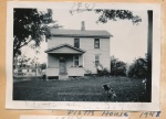 Plott house 1948 with dog spot and Jeannephotobombing