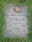 Alvena and Alton Stimsonheadstone
